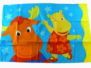 This Backyardigans pillow case is ideal for a toddler room.