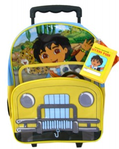 This Diego Backpack has an i.d card holder and it rolls.