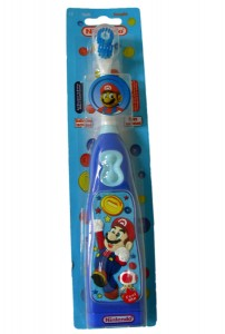 Mario Toothbrush is battery powered